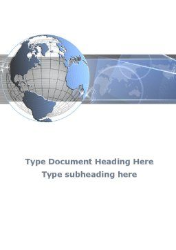 Globe Wired Model Word Template Cover Page