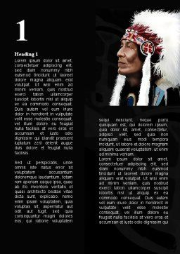 American Indian Chief Word Template, First Inner Page, 09334, Flags/International — PoweredTemplate.com