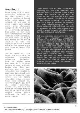 Gastric Mucosa Word Template, First Inner Page, 09335, Medical — PoweredTemplate.com