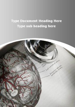 Human Anatomy Word Template, Cover Page, 09337, Medical — PoweredTemplate.com