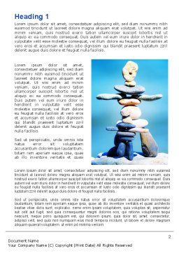 Stone Figures Word Template, First Inner Page, 09338, People — PoweredTemplate.com