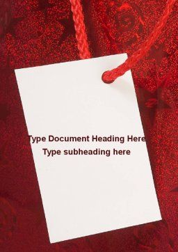 Tag Word Template, Cover Page, 09339, Holiday/Special Occasion — PoweredTemplate.com