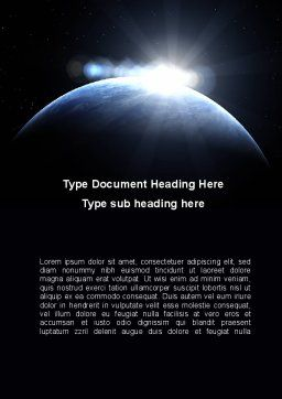 Deep Space Sunrise Word Template, Cover Page, 09341, Global — PoweredTemplate.com