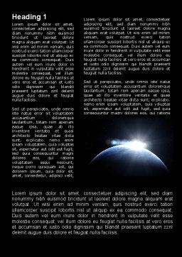 Deep Space Sunrise Word Template First Inner Page