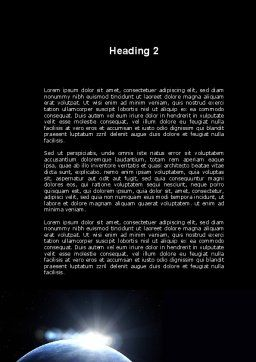 Deep Space Sunrise Word Template, Second Inner Page, 09341, Global — PoweredTemplate.com