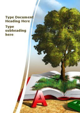 Green Tree of Knowledge Word Template Cover Page