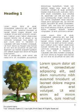 Green Tree of Knowledge Word Template First Inner Page