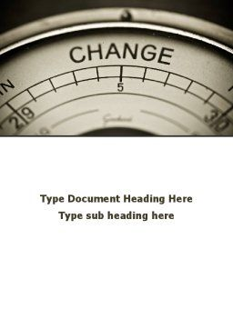 Change Word Template, Cover Page, 09345, Consulting — PoweredTemplate.com