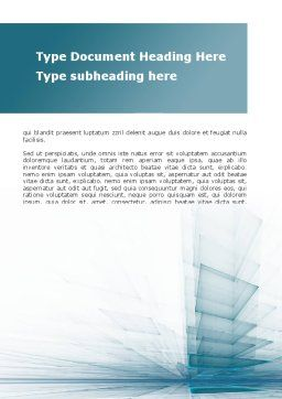Glass Surfaces Word Template, Cover Page, 09347, Careers/Industry — PoweredTemplate.com