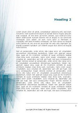 Glass Surfaces Word Template, Second Inner Page, 09347, Careers/Industry — PoweredTemplate.com