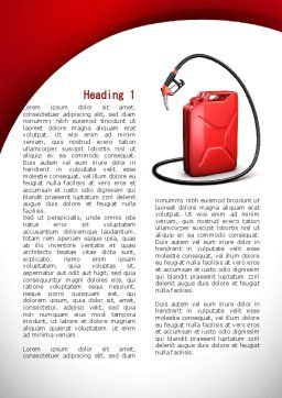 Gasoline Jerrycan Word Template, First Inner Page, 09349, Cars/Transportation — PoweredTemplate.com