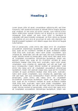 Blue Skyscraper Word Template, Second Inner Page, 09351, Construction — PoweredTemplate.com