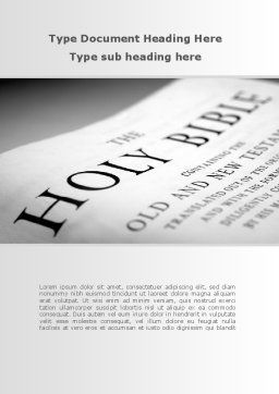 Holy Writ Word Template Cover Page
