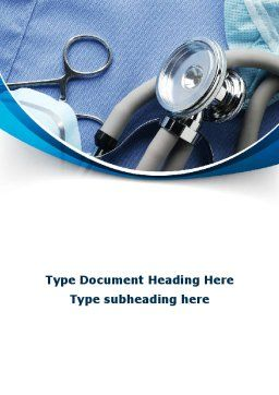 Medical Instruments Word Template, Cover Page, 09354, Medical — PoweredTemplate.com