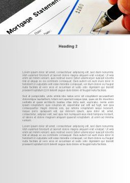 Mortgage Statement Word Template, Second Inner Page, 09355, Consulting — PoweredTemplate.com
