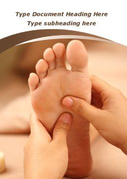 Feet Dotted Massage Word Template, Cover Page, 09356, Medical — PoweredTemplate.com