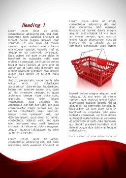 Market Pannier Word Template, First Inner Page, 09361, Business — PoweredTemplate.com