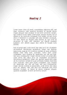 Market Pannier Word Template, Second Inner Page, 09361, Business — PoweredTemplate.com