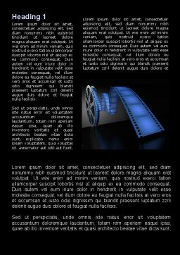 Film Reel In Dark Blue Color Word Template First Inner Page