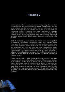 Film Reel In Dark Blue Color Word Template Second Inner Page