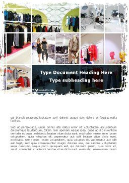 Clothing Store Word Template, Cover Page, 09363, Business — PoweredTemplate.com