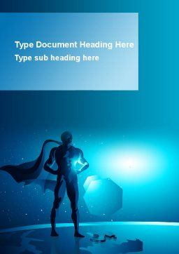 Super Human Creature Word Template, Cover Page, 09365, Consulting — PoweredTemplate.com
