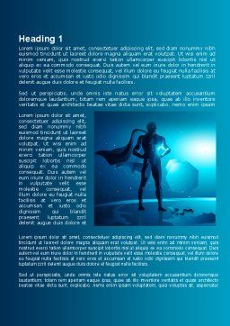Super Human Creature Word Template, First Inner Page, 09365, Consulting — PoweredTemplate.com