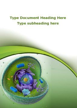 Animal Cell Cut Away Word Template, Cover Page, 09366, Technology, Science & Computers — PoweredTemplate.com
