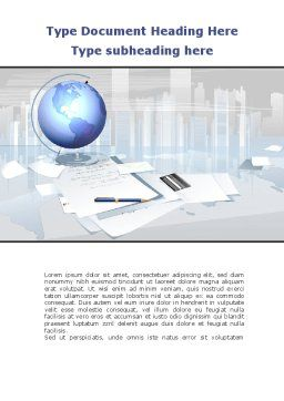 Globe Word Template, Cover Page, 09368, Consulting — PoweredTemplate.com