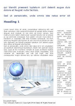 Globe Word Template, First Inner Page, 09368, Consulting — PoweredTemplate.com