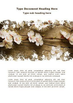 Spring Blossom Apple Tree Word Template, Cover Page, 09369, Nature & Environment — PoweredTemplate.com
