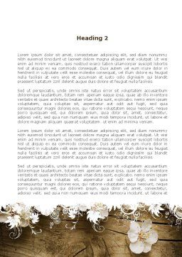 Spring Blossom Apple Tree Word Template, Second Inner Page, 09369, Nature & Environment — PoweredTemplate.com