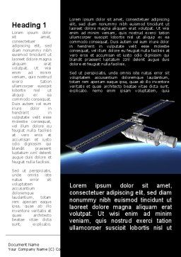 Spaceship In Deep Space Word Template, First Inner Page, 09370, Technology, Science & Computers — PoweredTemplate.com