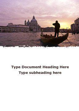 Basilica di Santa Maria Della Salute in Venice Word Template, Cover Page, 09371, Flags/International — PoweredTemplate.com