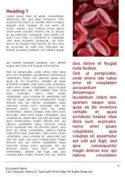 Red Blood Cells Stream Word Template, First Inner Page, 09372, Medical — PoweredTemplate.com