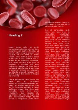 Red Blood Cells Stream Word Template, Second Inner Page, 09372, Medical — PoweredTemplate.com