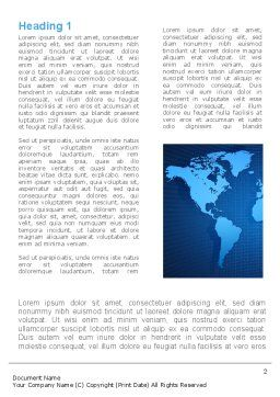 Global Map In Blue Word Template First Inner Page