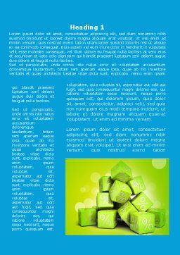 Green Percent Cubes Word Template, First Inner Page, 09375, Consulting — PoweredTemplate.com