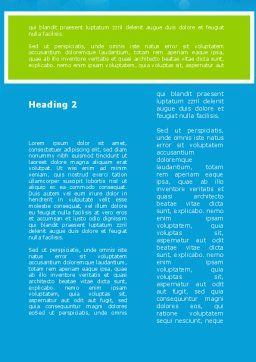 Green Percent Cubes Word Template, Second Inner Page, 09375, Consulting — PoweredTemplate.com