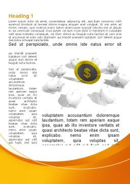Piggy Bank Greedy Word Template, First Inner Page, 09376, Consulting — PoweredTemplate.com