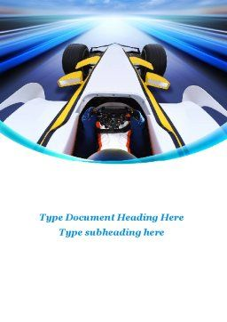 Formula One Bolide Word Template Cover Page