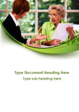 Consulting Elderly Word Template, Cover Page, 09387, Consulting — PoweredTemplate.com