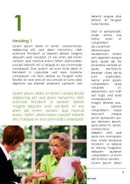 Consulting Elderly Word Template, First Inner Page, 09387, Consulting — PoweredTemplate.com