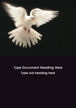 Soaring Dove Word Template, Cover Page, 09389, Agriculture and Animals — PoweredTemplate.com
