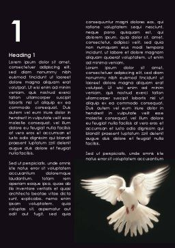 Soaring Dove Word Template, First Inner Page, 09389, Agriculture and Animals — PoweredTemplate.com