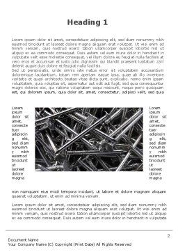 Nails Word Template, First Inner Page, 09392, Utilities/Industrial — PoweredTemplate.com