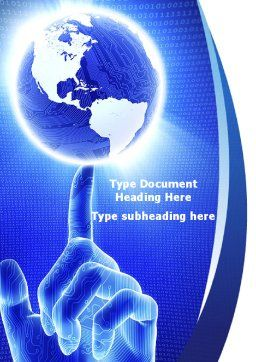 World In A Fingertip Word Template Cover Page