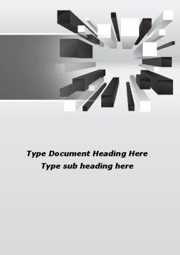 Downtown Model Word Template, Cover Page, 09399, Consulting — PoweredTemplate.com