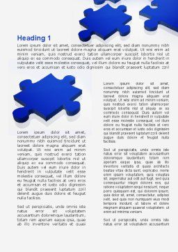 Blue Puzzle Word Template, First Inner Page, 09400, Consulting — PoweredTemplate.com