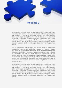Blue Puzzle Word Template, Second Inner Page, 09400, Consulting — PoweredTemplate.com